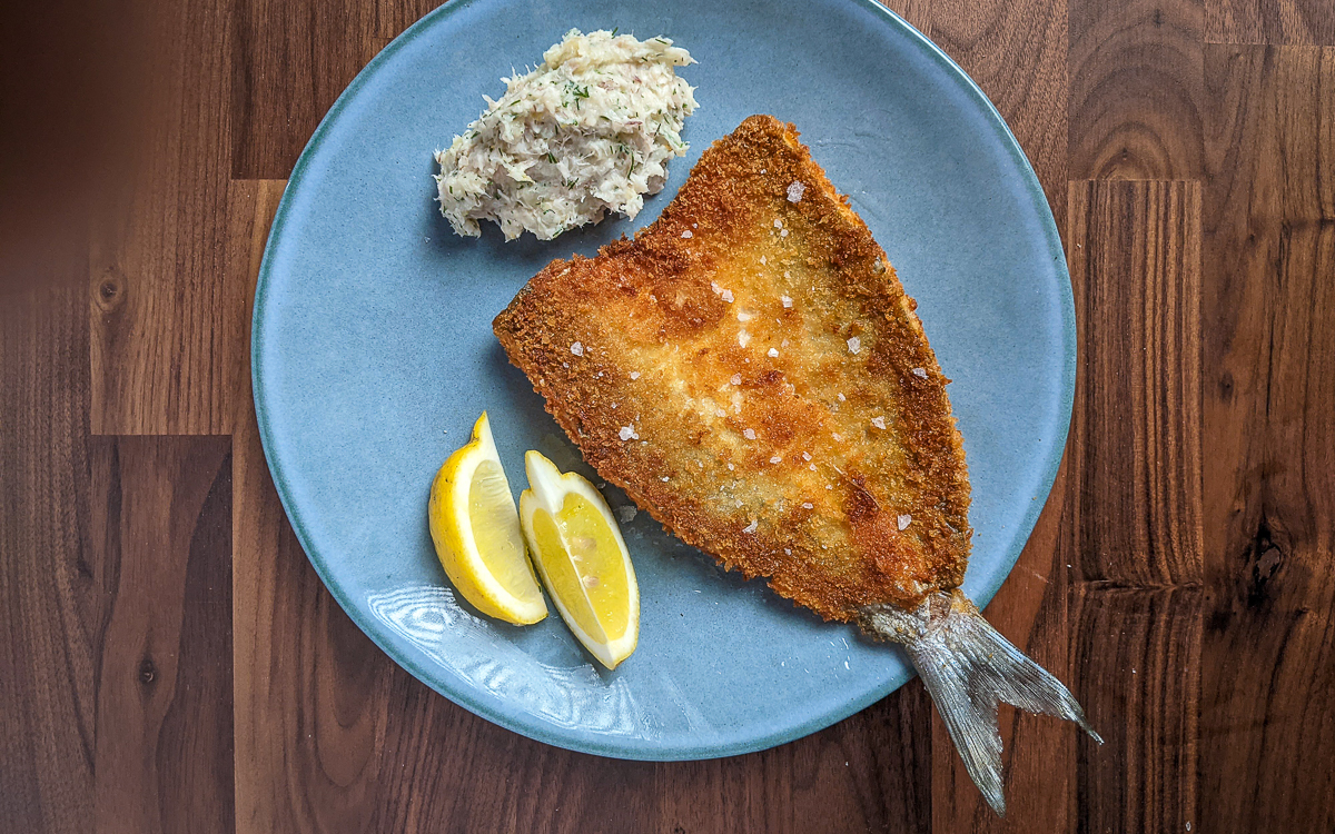 Panko Crusted and Fried Grey Mullet