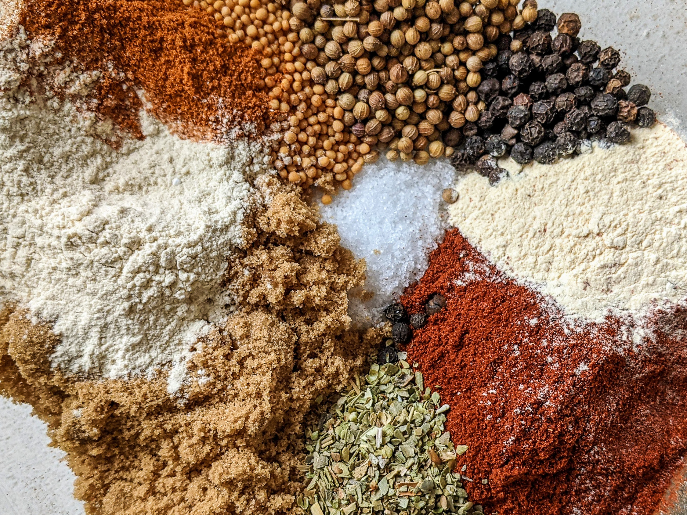 mixture of whole and ground spices