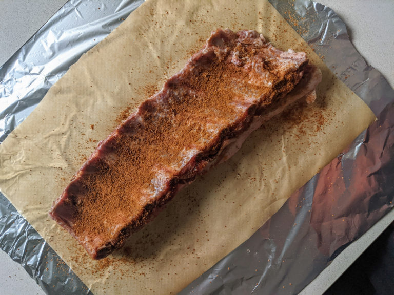 Ribs ready for the oven