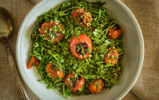 Charred tomato Tabbouleh