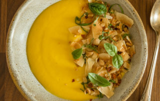 Pumpkin and Melon Curried Chilled Soup