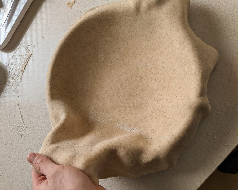 Laying pastry in pie dish